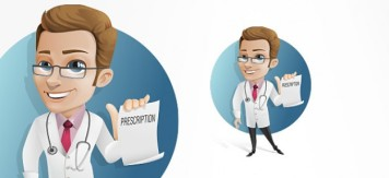 doctor-holding-a-prescription-vector-character_62-4921
